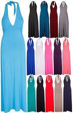 Halterneck Full Length Casual Dresses Plus Size for Women