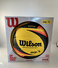 Wilson AVP OPTX Tour Replica Official Volleyball, Yellow/Black