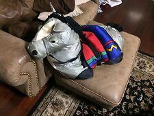 "HUGE Jumbo 36"" Manhattan Toy Co Riding Toy Stuffed Plush Horse Pony Nylon 1994"