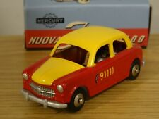 HACHETTE MERCURY TOYS BERN TAXI FIAT 1100 YELLOW & RED CAR MODEL LY03 1:48