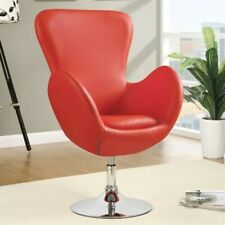 Coaster Leisure Swivel Chair in Red