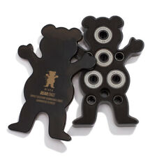 Grizzly Skateboard Bearings Black Bear-Ings with Spacers and Washers
