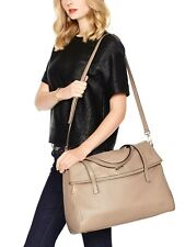 Kate Spade New York Highland Place Leslie XL TAN Leather Travel Bag Tote