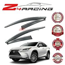 For 2015-2017 Lexus NX200t / 300h - WINDOW VISOR - CHROME Trim Smoke Tinted