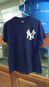 MAJESTIC New York Yankees Aaron Judge #99 Men's Blue Shirt  Size Medium