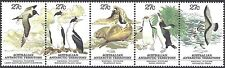 Australian ANTARCTIC 1983 WILDLIFE strip (5) Birds etc Unhinged Mint SG 55-59