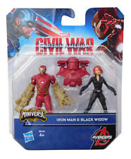 Marvel Captain America Civil War Iron Man vs Black Widow Figure Avengers Hasbro