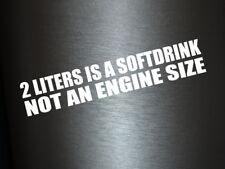 1 x 2 Plott Aufkleber 2 Liters Is A Softdrink Sticker Autoaufkleber Shocker Fun