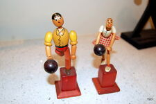 Vintage Handpainted Flexible Wooden Bowling Figurines