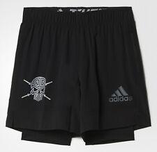 Laufhose, Sporthose, 2 in 1 Leggings Shorts, kurze Hose, Herren, adidas® S3 T+S
