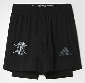 Laufhose, Sporthose, 2 in 1 Leggings Shorts, kurze Hose, adidas® S3 T+S, Gr. XS
