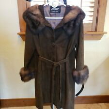 New listing Vintage Suede And Fur Coat