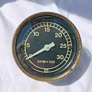 Vintage STEWART WARNER Truck Tachometer 3000 RPM Kenworth Peterbilt Mack Diesel