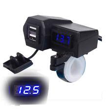Dual USB Charger LED Voltmeter For Harley Davidson XL XLH Sportster 1200 883 FLH