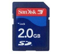 2GB SanDisk Secure Digital Memory Card SD Blue Genuine SDSDB-2048 Standard