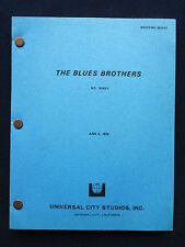 THE BLUES BROTHERS - ORIGINAL SCRIPT of DAN ACKROYD, JOHN BELUSHI Film