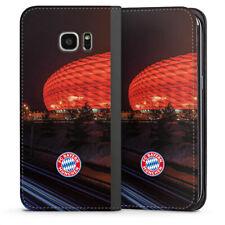 Samsung Galaxy S7 Edge Tasche Flip Case Allianz Arena Nacht FC Bayern München