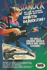 X4298 La favolosa chitarra FestaRock - GIG - Pubblicità 1989 - Advertising
