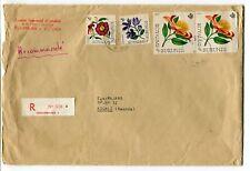 Royaume Burundi - Rwanda 1967 Usumbura CDS - REGISTERED Cover - Flower Stamps