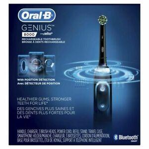 Oral-B 8000 Electronic Toothbrush, Black, Powered by Braun+Bonus