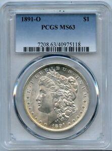 1891-O $1 Morgan Silver Dollar PCGS MS 63