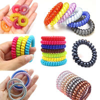 Fashion Elastic Telephone Wire Cord Hair Accessories Bands Rope Bracelet USA
