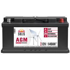 Solarbatterie AGM 140Ah 12V Versorgungsbatterie Boot Batterie statt GEL 130Ah