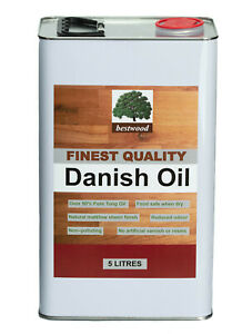 Danish Oil, Bestwood, 10 LITRES (2X5 Litre cans), 50% Tung Oil express delivery