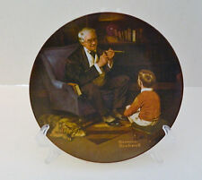 The Tycoon Sixth Plate Norman Rockwell Heritage Collection No Coa or Box l982