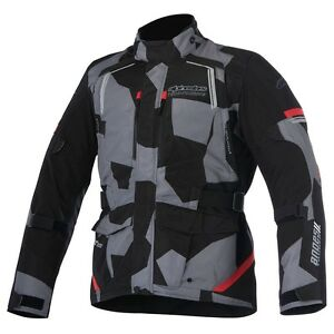 Alpinestars ANDES V2 Drystar Camo Red Motorcycle Textile Touring Jacket