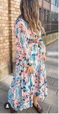 H&M Conscious Chiffon Dress Long Powder Floral Kaftan BNWT Size Large Sold Out