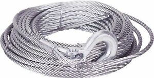 """100' Winch Cable w/ Hook - .375"""" dia. ; M998 Hummer ; 4010-01-496-3987 34414"""