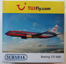 """SCHUCO/SCHABAK AVIATION 1:600: Boeing 737-800 TUIfly """"dans le train au vol"""" DB Regio"""