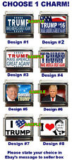 Donald Trump Custom Italian Charm, Make America Great Again, I Love Trump choose
