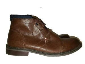 TOMMY HILFIGER SANTIAGOBRMLL SANTIAGO Size 11 Brown Faux-Leather Casual Boots