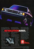 1985 Dodge Aries LE - Revolutionaries - Classic Vintage Advertisement Ad D141