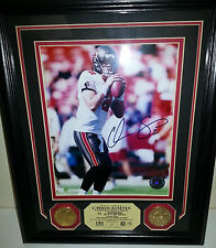 Chris Simms Highland Mint Auto 8x10 Photo Plaque Gold Coin Tampa Bay Bucs #01/99
