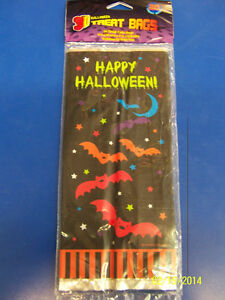 Cloak & Bats Vampire Bat Halloween Holiday Party Favor Bags Small Cello Sacks