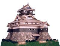 Woody JOE 1/150 Inuyama Castle Wooden Mini Model Kit Japan