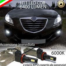 FULL LED H11 LANCIA DELTA FENDINEBBIA CANBUS 6400 LUMEN 6000K NO ERROR
