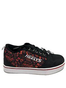 Heelys Kids' GR8 Pro 20, Black/Red Wheeled Shoes, Boys' Size 5M.