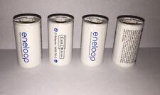4x ENELOOP Adapter geeignet für Eneloop Mignon Typ AA Akkus auf Baby C Format