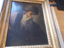 "ANTIQUE OIL PAINTING ON WOOD PANEL ""OLD MASTERS BEARDED MAN PORTRAIT"" 13""x10 1/2"