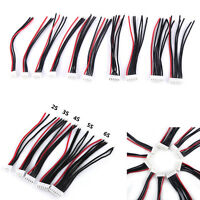 10Pcs JST Connector 2-6S B6 Balance Charger Silicone Cable Wire Adapter Plug TP