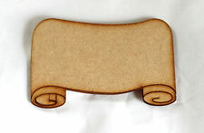 Pack of 10 Fairy door Scroll Signs Name Plates 1.5mm MDF Plaques Choose Size #01