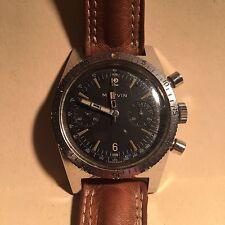 Cronografo Marvin in acciaio anni '70