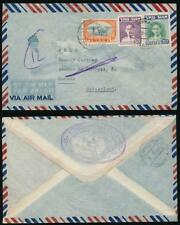 THAILAND 1949 UNIVERSAL WATCH CO OVAL on AIRMAIL ENV to SWITZERLAND TIMEPIECE