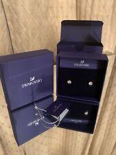 New Swarovski Rose Gold Tone Hexagonal Stud Earrings 5371199.