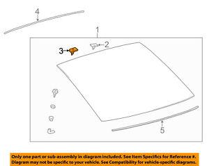 Scion TOYOTA OEM 11-16 tC-Lift Gate Glass Spacer 6481921040