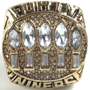 1994 SF 49ers Young Football NFL Super Bowl 18k Gold Plated Championship Ring